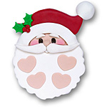 Santa Face w/4 Hearts on SALE!