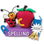Personalized<br>Spelling Bee Figurine<br>Teachers Gift