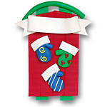 Sled w/3 Mittens<br>Personalized Family Ornament