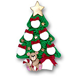 Christmas Tree w/6 Ornaments<br>Personalized Family Ornament