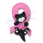 Black &amp; White Kitty<br>Breast Cancer<BR>MEMORIAL-survivor<br>Pink Ribbon-Limited Editon