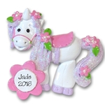 RESIN<br>Princess's Unicorn<br>Personalized Ornament