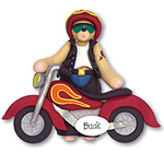 Belly Bear Biker<br>Personalized Ornament
