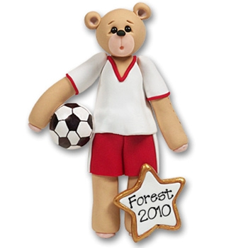 Soccer Belly Bear<br>Personalized Ornament