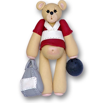 Bowler Belly Bear<br>Personalized Ornament-ON SALE!