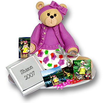 Belly Bear Scrapbooker<br>Personalized Ornament