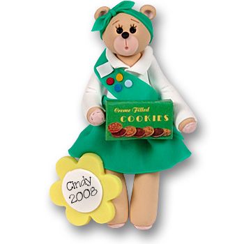 Belly Bear Scout-Girl<br>Personalized Ornament