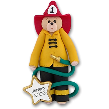 Belly Bear Fireman<br>Personalized Ornament