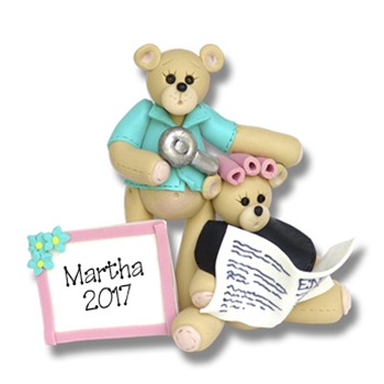 Belly Bear Hairdresser - Beauty Shop - Personalized Ornament - ON SALE!