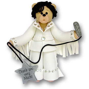 "Elvis Im""Bear""sonator Personalized Ornament"