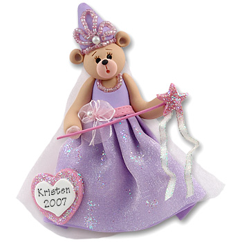 Belly Bear Princess<br>Personalized Ornament