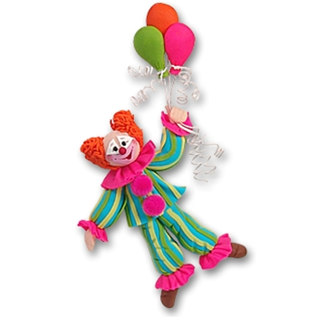 Clown with Balloons<br>Personalized Party Ornament
