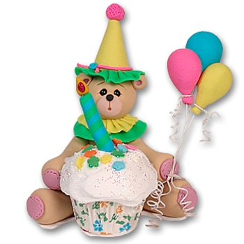 NEW! Binkey the Belly Bear Cupcake Figurine Limited Edition