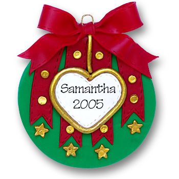 Christmas Ball (Red & Green)<br>Personalized Ornament