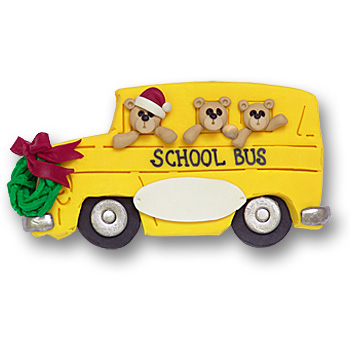 School Bus<br>Personalized Ornament