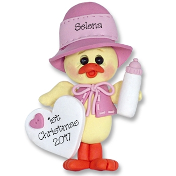 Girl Baby Chick<br>Baby's 1st Christmas Ornament <br>Limited Edition
