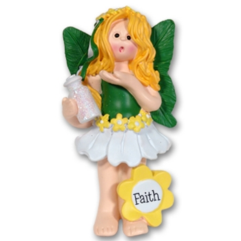 RESIN<br>Faith the Forest Fairy<br>Personalized Ornament