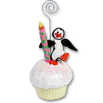Petey Penguin Cupcake<br>Photo/Place Card Holder