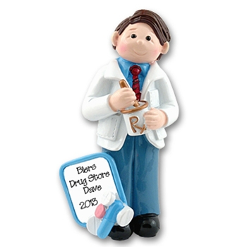 RESIN<br>Giggle Gang Pharmacist<br>Personalized Ornament