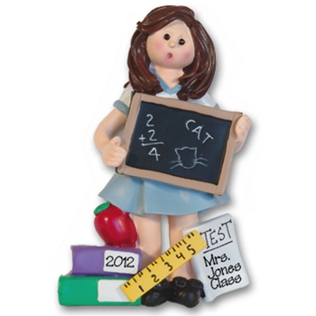RESIN<br>Giggle Gang Teacher<br>Personalized Ornament-Female<br>Teacher's Gift