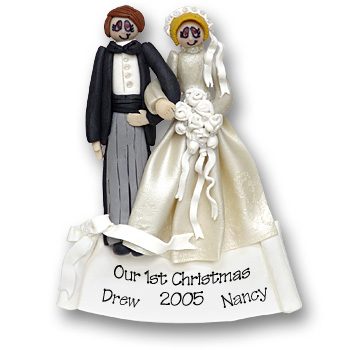 Bride & Groom<br>Personalized Ornament<br>SALE! 70% Off