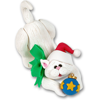 """Frosty"" Kitten Cutie Cat Ornament"