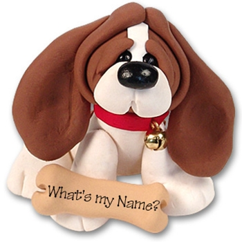 &quot;Barney&quot; Basset Hound<br>Dog Ornament