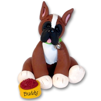 &quot;Buddy&quot; Boxer<br>Dog Ornament