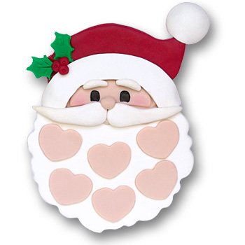 Santa Face w/6 Hearts on SALE!