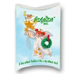 Angelina Angel with Red Hair Personalized Ornament in Custom Gift Box