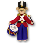 Belly Bear Drummer Boy<br>Personalized Ornament