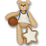 Basketball Belly Bear<br>Personalized Ornament -  ON SALE!