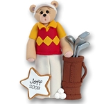 Belly Bear Golfer<br>Personalized Ornament