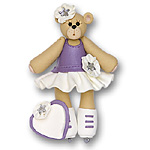 Skater Belly Bear<br>Personalized Ornament