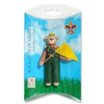 Belly Bear Scout-Boy Personalized Ornament  in Custom Gift Box