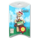 Belly Bear Brownette Personalized Christmas Ornament in Custom Gift Box