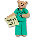 Belly Bear Male Nurse/EMT<br>Personalized Ornament