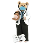Covid-19 Belly Bear Veterinarian w/Face Mask Personalized Christmas Ornament  - ON SALE!