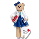 Belly Bear<br>Dental Hygienist<br>Personalized Ornament