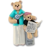 Belly Bear Hairdresser Personalized Ornament - Custom Ornaments