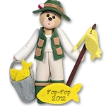 Fisher Belly Bear<br>Personalized Ornament