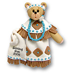 Belly Bear Indian Maiden Personalized Christmas Ornament - Custom Ornament