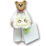 Belly Bear Ringbearer Personalized Wedding Ornament