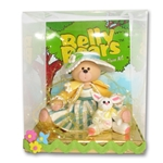 Belly Bear Girl w/Rabbit Easter Figurine in Custom Gift Box