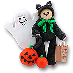 Belly Bear Cat<br>Personalized <br>Halloween Ornament