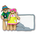 Belly Bear Vacation Couple Personalized Ornament