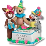 NEW!<br>Binkey's Bash<br>Birthday Cake Figurine