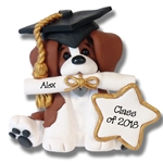 Beagle Graduate / Graduation Ornament - Limited Edition