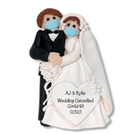 Covid-19 Bride & Groom Wedding Cancelled Personalized Wedding Ornament - In Custom Package