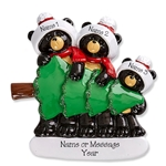 Black Bear Family of 3 Tree Shopping - RESIN